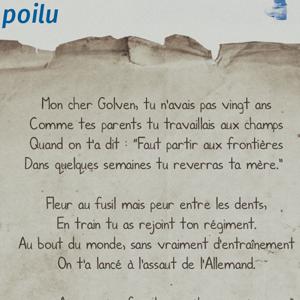 Lettre à un Poilu | Letter to a French soldier